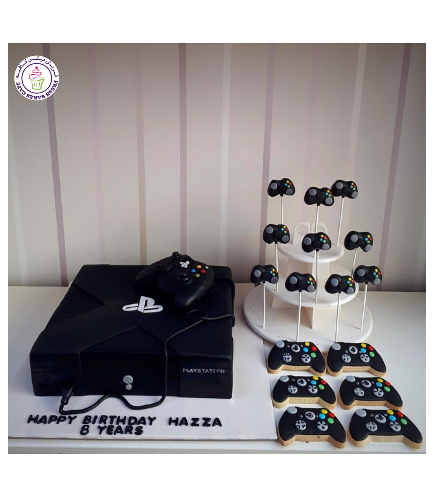 PlayStation Themed Cake - Console - 3D Cake 02b
