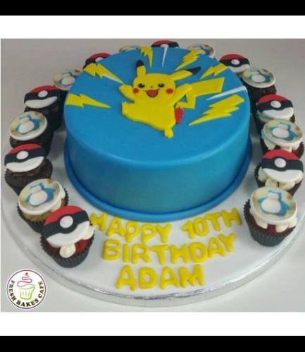 Cake - Pikachu - 2D Cake Topper
