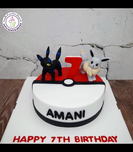 Cake - PokeBall 2D Cake & 3D Characters 02b