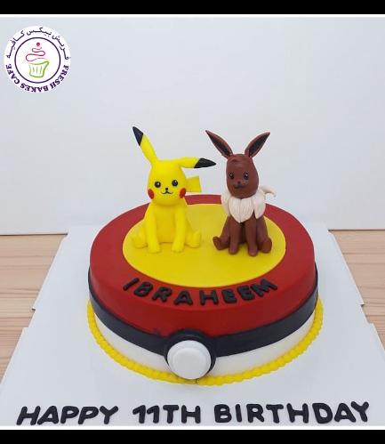 Cake - PokeBall 2D Cake & 3D Characters 03