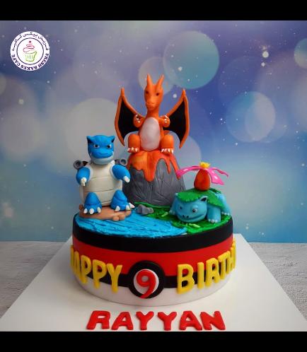Cake - PokeBall 2D Cake & 3D Characters 04