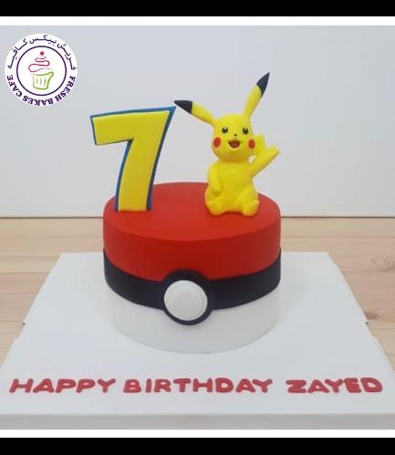 Cake - PokeBall 2D Cake & 3D Pikachu