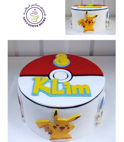 Cake - PokeBall 2D Cake & Printed Pictures