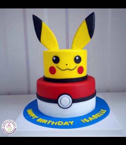 Cake - Pikachu & PokeBall - 2D Cake