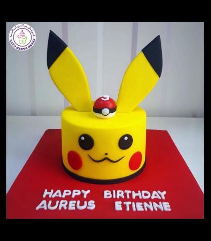 Cake - Pikachu - 2D Cake 02a