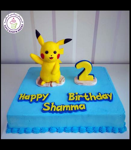 Cake - Pikachu - 3D Cake Topper - Cream Cake