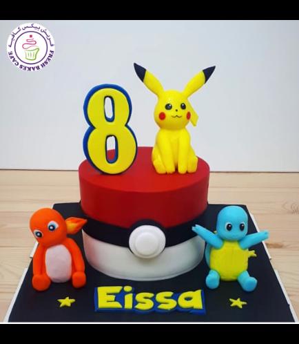 Cake - PokeBall 2D Cake & 3D Characters 01