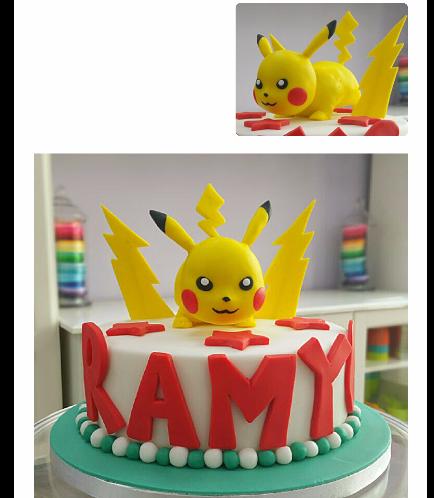 Cake - Pikachu - 3D Cake Topper - Fondant Cake