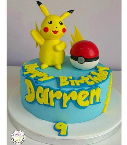 Cake - Pikachu & PokeBall - 3D Cake Toppers