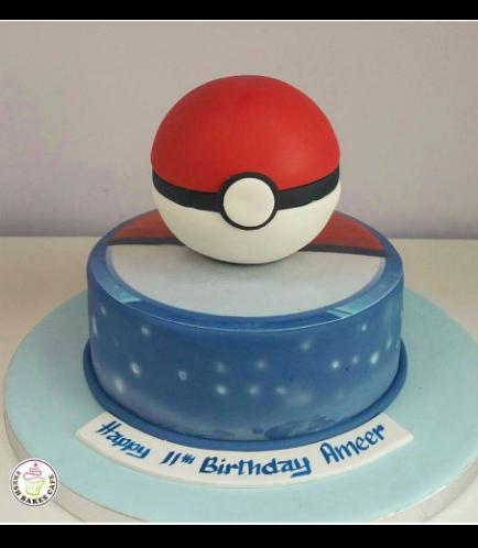 Cake - PokeBall - 3D Cake Topper