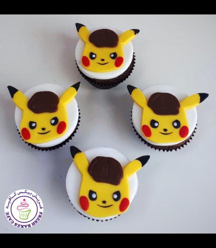Cupcakes - 2D Fondant Toppers - Pikachu 01a