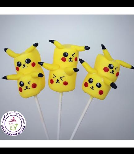 Pokemon Themed Marshmallow Pops - Pikachu 02
