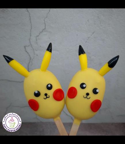 Pokemon Themed Popsicakes - Pikachu 01