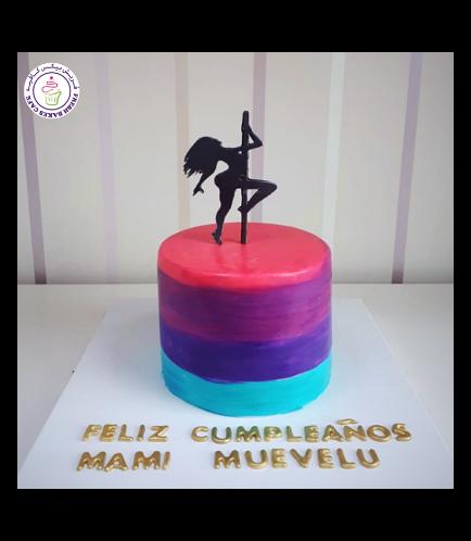 Pole Dancer Themed Cake