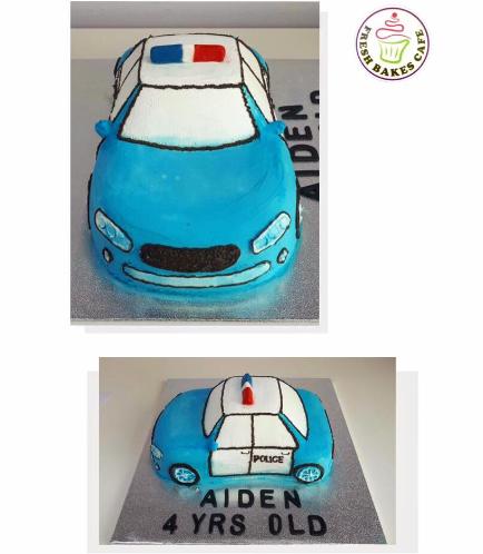Police Car Themed Cake