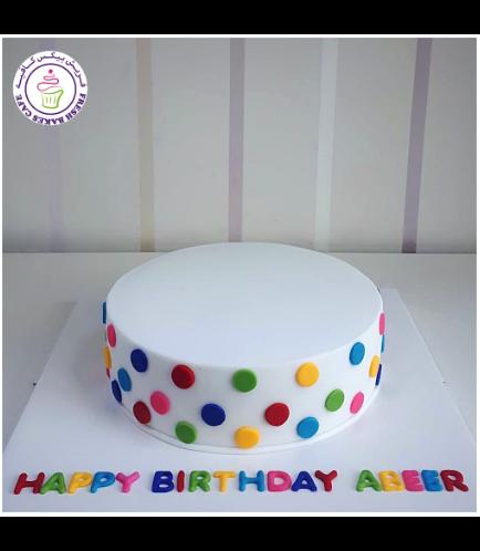 Polka Dots Themed Cake