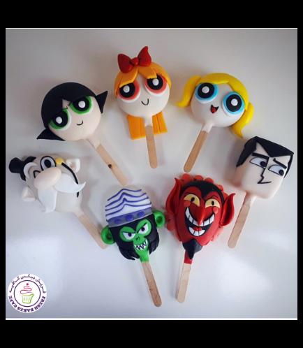 Powerpuff Girls Themed Popsicakes