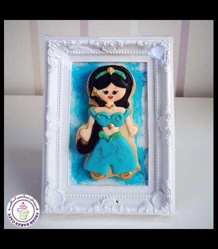 Princess Jasmine Themed Cookie in Frame 02