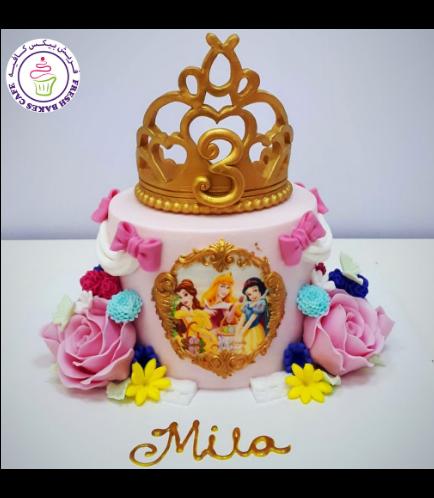 Princesses Themed Cake - Crown - 1 Tier 02