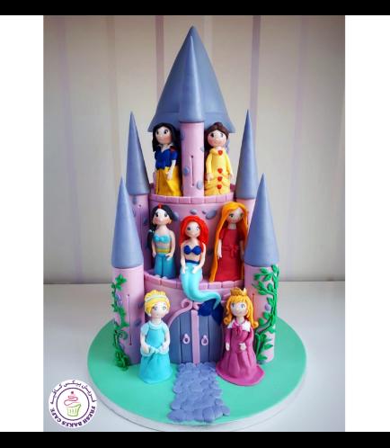 Princesses Themed Cake 08