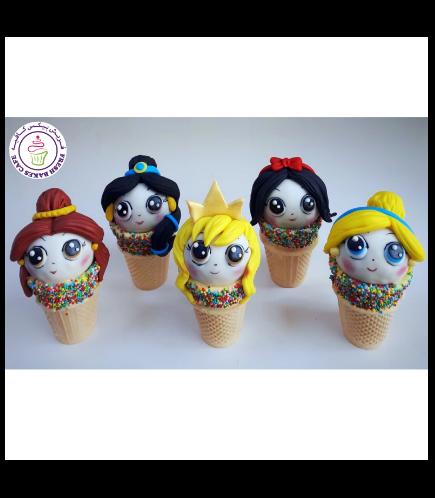 Princesses Themed Cone Cake Pops