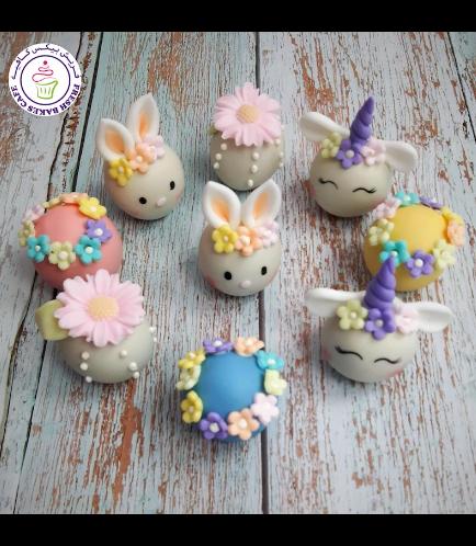 Cake Pops w/o Sticks - Rabbits, Flowers, & Unicorns