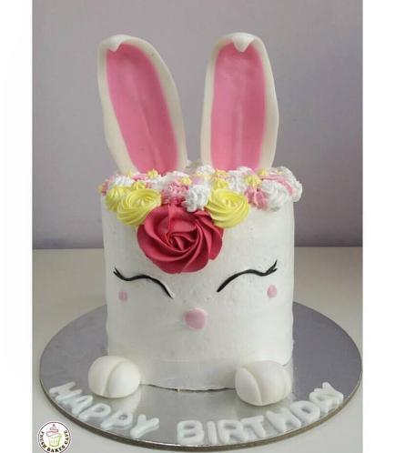 Rabbit Themed Cake - 2D Cake - Cream 03