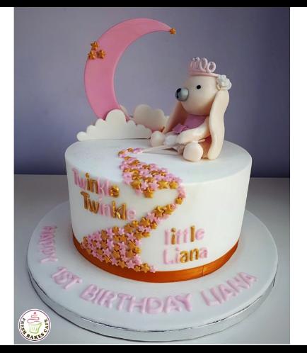 Rabbit Themed Cake - 3D Cake Topper - 1 Tier