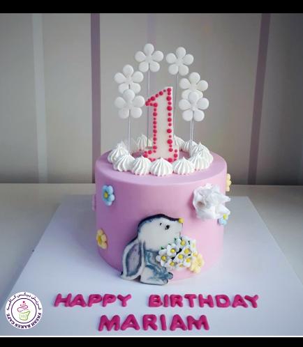 Rabbit Themed Cake - 2D Cake Topper