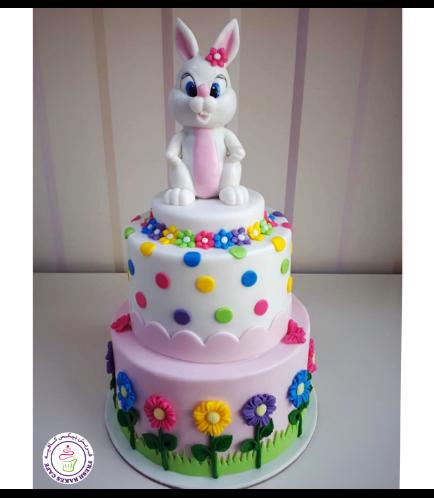 Rabbit Themed Cake - 3D Cake Topper - 2 Tier