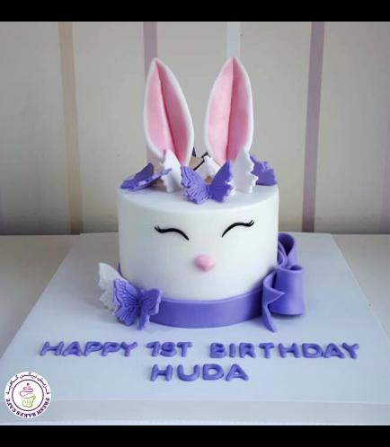 Rabbit Themed Cake - 2D Cake - Fondant 07