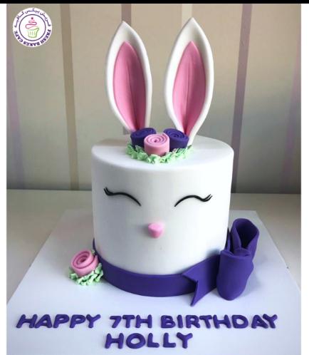 Rabbit Themed Cake - 2D Cake - Fondant 03b