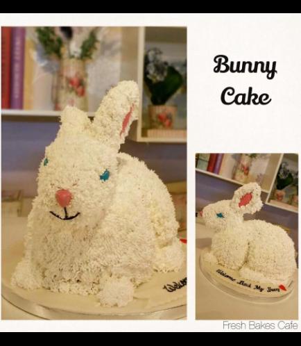 Rabbit Themed Cake - 3D Cake - Cream
