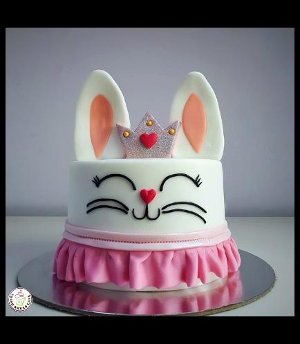 Rabbit Themed Cake - 2D Cake - Fondant 04
