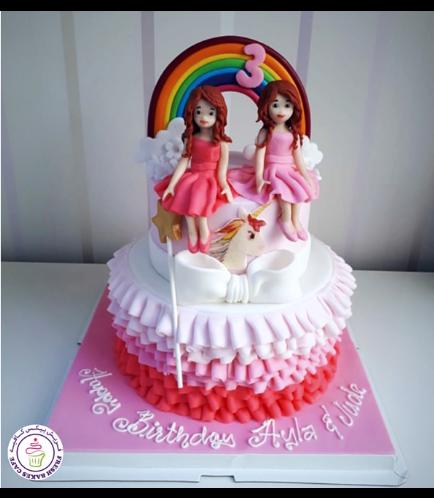 Fondant Ruffle Cake 10