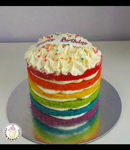 Cake - Rainbow Naked Cake 01a