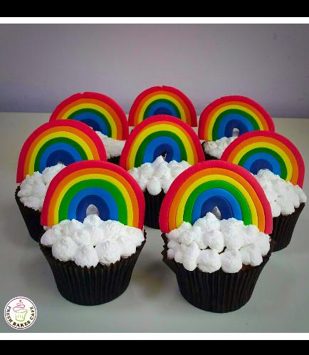 Cupcakes - Fondant Rainbow 01