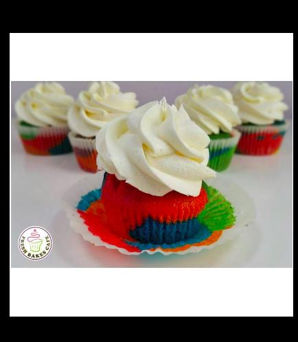 Cupcakes - Rainbow Cake Sponge