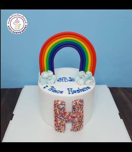 Cake - Themed Cake - Fondant - 1 Tier 03 - Letter
