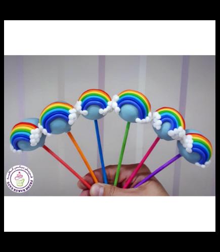 Rainbow Themed Cake Pops