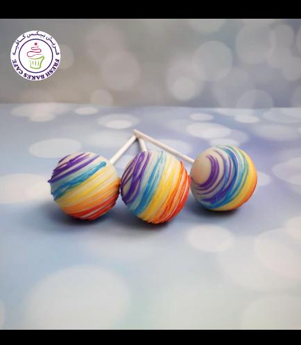 Cake Pops - Rainbow Drizzle