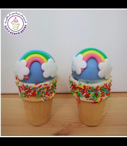 Cone Cake Pops - Rainbow