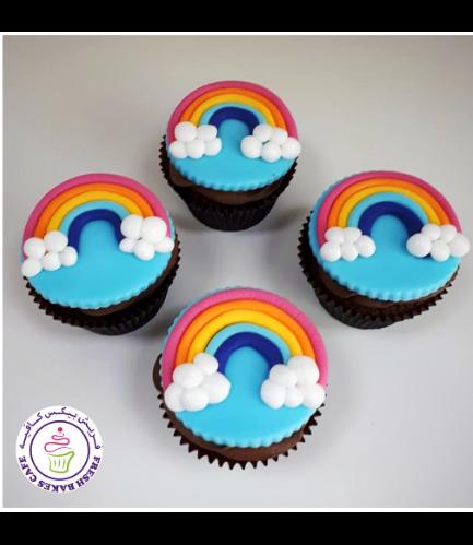 Cupcakes - Fondant Rainbow 03