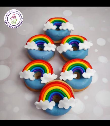 Donuts - Fondant Rainbow
