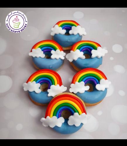 Rainbow Themed Donuts - Fondant Rainbow