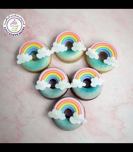 Rainbow Themed Donuts - Fondant Rainbow - Pastel