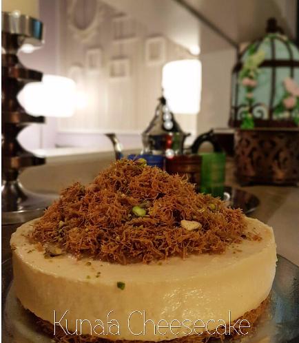 Ramadan Sweets-Kunafa Cheesecake