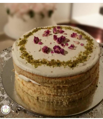 Ramadan Sweets - Pistachio Cake with Rose Water Icing
