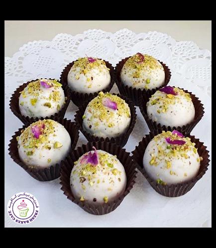 Ramadan Themed Cake Truffles - Pistachio Rose Water