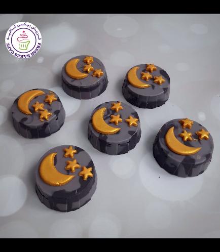 Ramadan Themed Chocolate Covered Oreos - Crescent & Stars 02